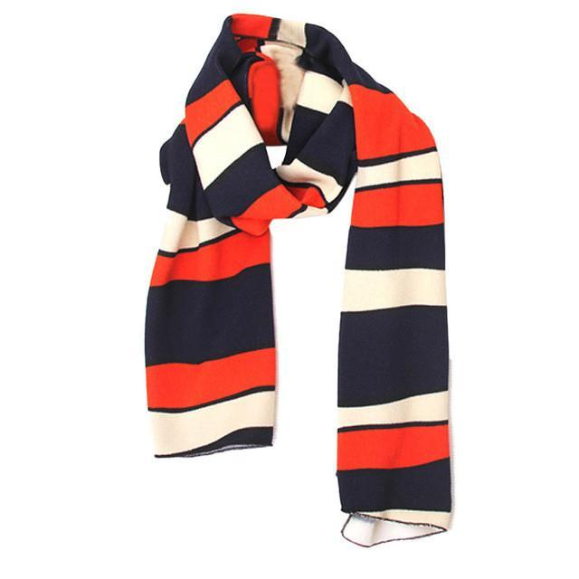 Blue and Orange Striped Scarf