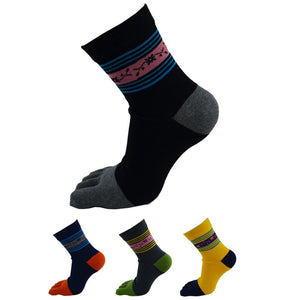 Funky Pattern Toe Socks (4 Colors)