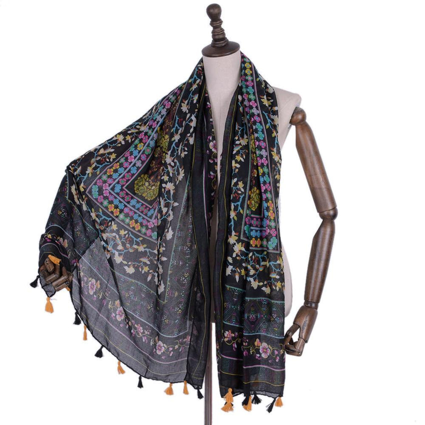 Long Tassel Wrap Scarf (2 Colors)