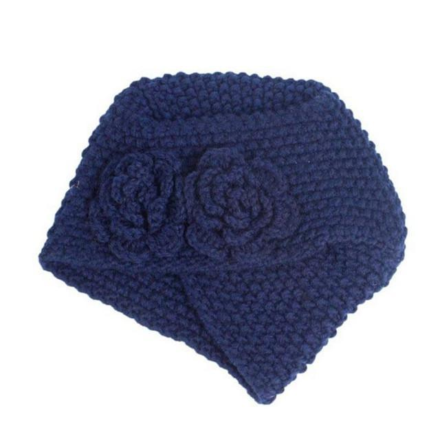 Flower Crochet Knit Beanie (4 Colors) - The Hoodie Hut