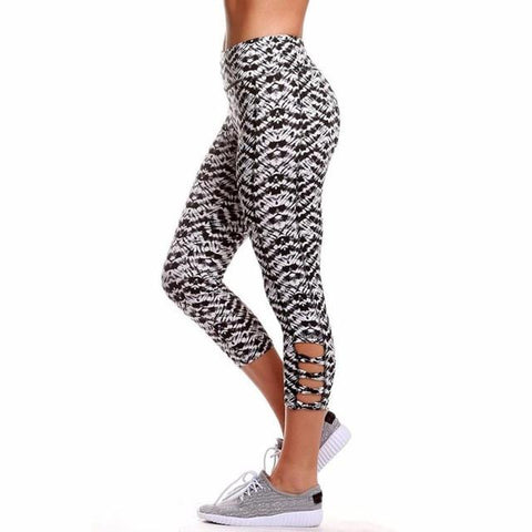 Black and White Zag Leggings - The Hoodie Hut