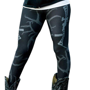 Black and White Archery Leggings - The Hoodie Hut