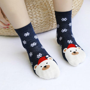 Snowflake Polar Bear Socks