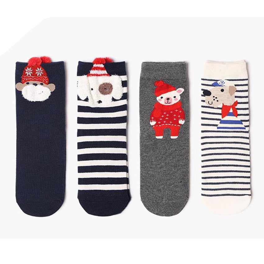 Cute Holiday Socks Set #1 (4 Pack)