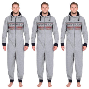 Hooded Jumpsuit - Gray