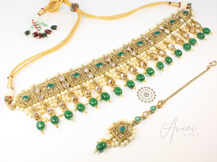 Krisha - Emerald Green | Avani London | Inspirational Indian Jewellery