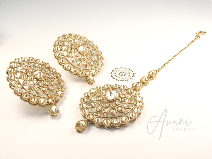 Avi Earring and Tikka Set | Avani London | Inspirational Indian Jewellery