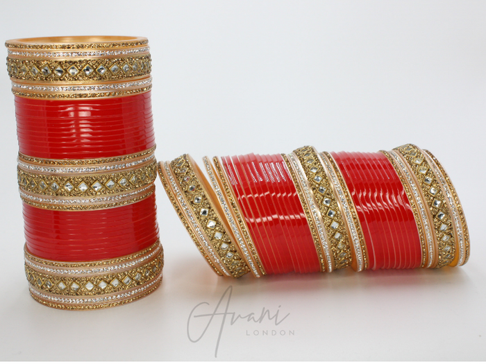 Geo Detail Bridal Bangles (Chura) | Avani London | Inspirational Indian Jewellery