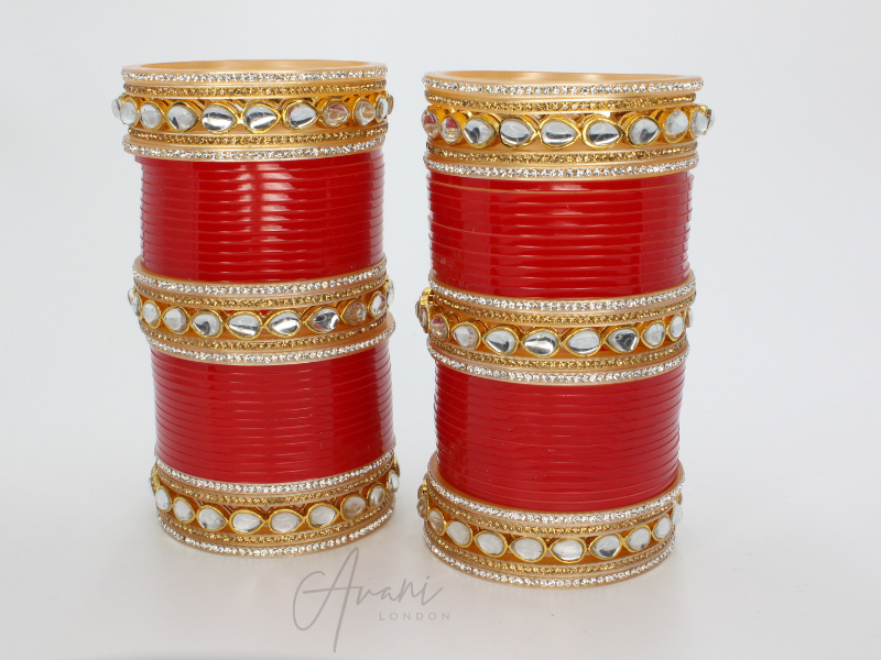 Kundan Bridal Bangles (Chura) | Avani London | Inspirational Indian Jewellery