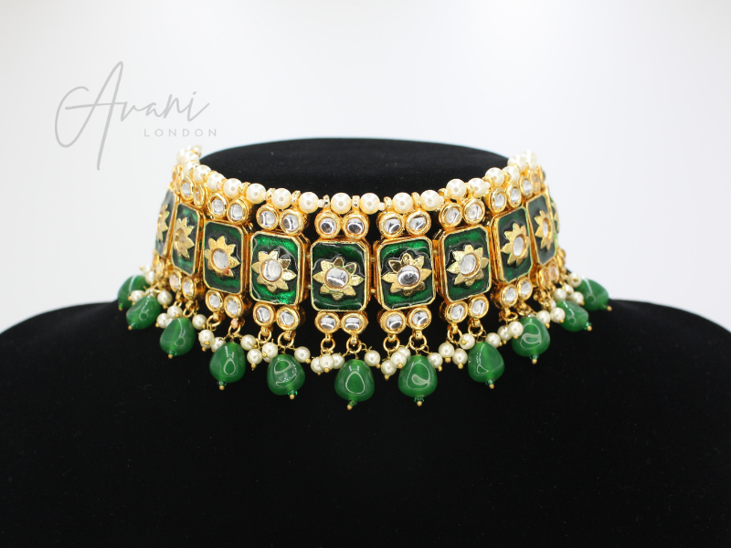 Khushi Kundan Choker Set - Various Colours | Avani London | Inspirational Indian Jewellery