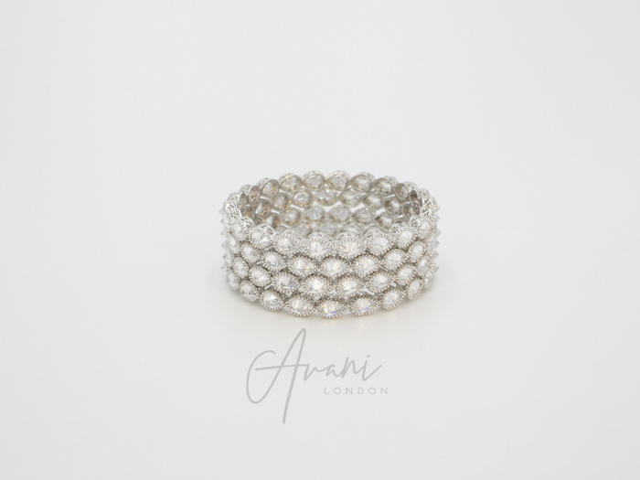 Meher Signature Bangles - Silver | Avani London | Inspirational Indian Jewellery