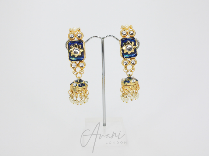 Khushi Kundan Choker Set - Royal Blue | Avani London | Inspirational Indian Jewellery