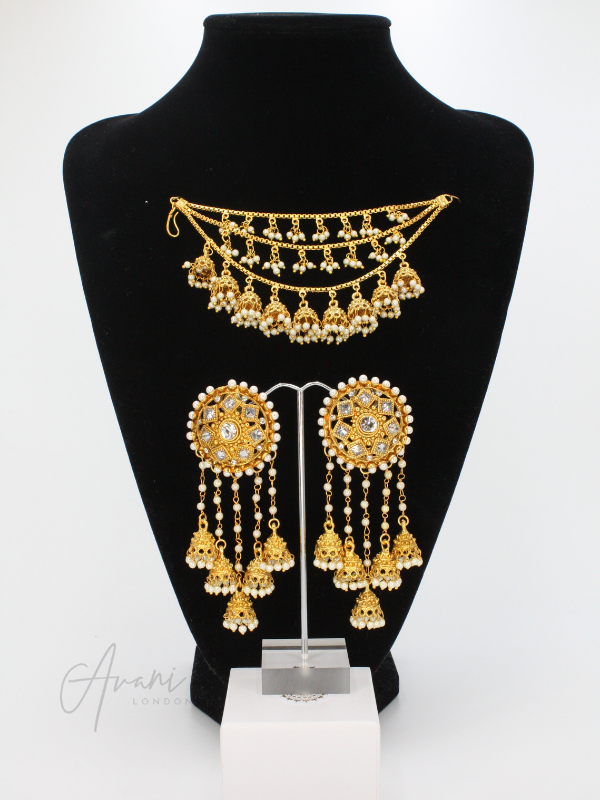 Pari 'Bahubali' Earrings with Sahaaras | Avani London | Inspirational Indian Jewellery