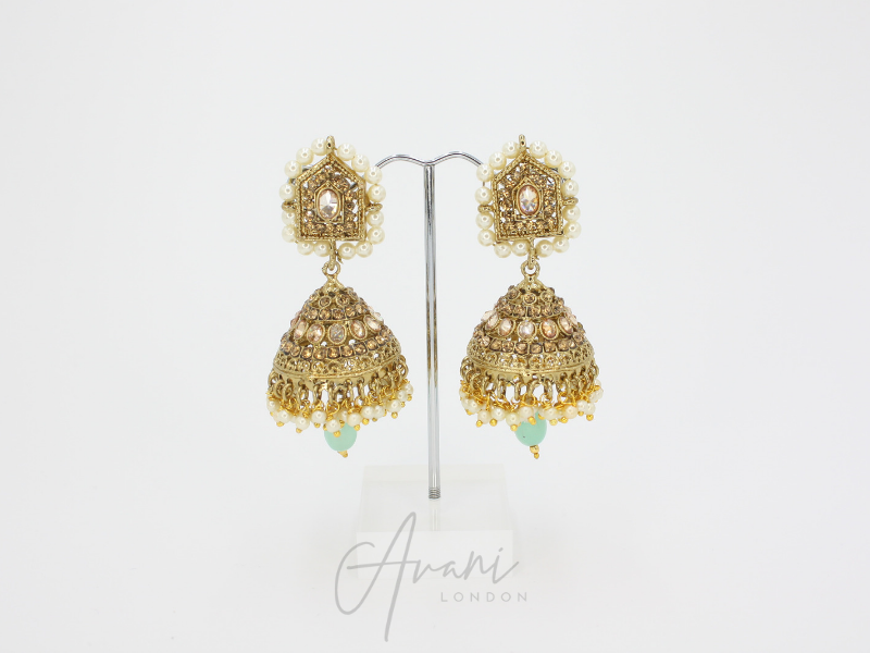 Krisha - Mint | Avani London | Inspirational Indian Jewellery