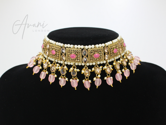 Krisha - Baby Pink | Avani London | Inspirational Indian Jewellery