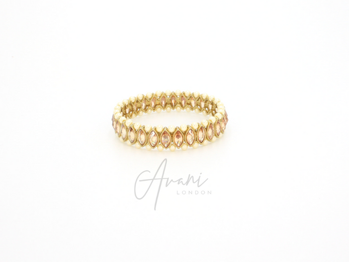 Reet Champagne and Pearl Bangles | Avani London | Inspirational Indian Jewellery