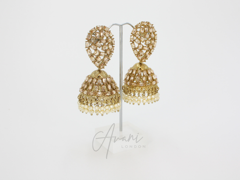 Kaya Jhumka Earrings | Avani London | Inspirational Indian Jewellery