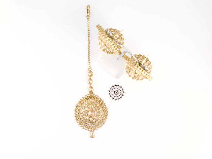 Kiara Earring and Tikka Set | Avani London | Inspirational Indian Jewellery