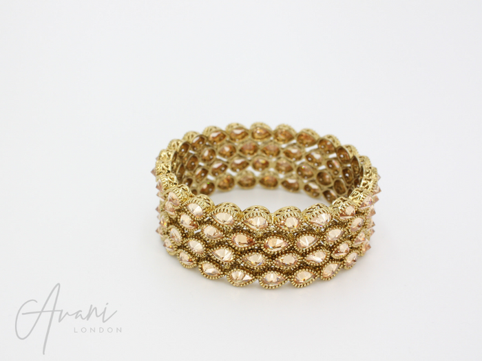 Meher Signature Bangles - Champagne | Avani London | Inspirational Indian Jewellery