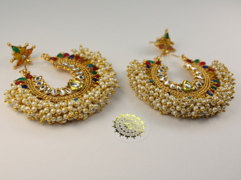 Pia - Rainbow Earrings and Tikka | Avani London | Inspirational Indian Jewellery