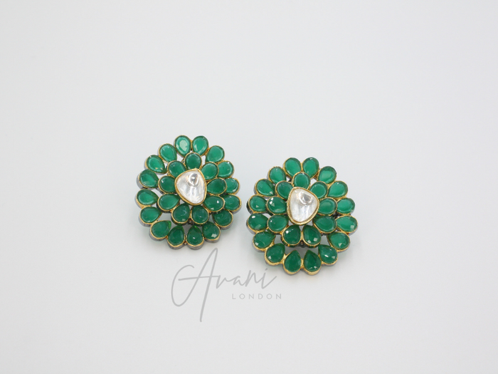 Jayda - Signature Kundan Studs | Avani London | Inspirational Indian Jewellery