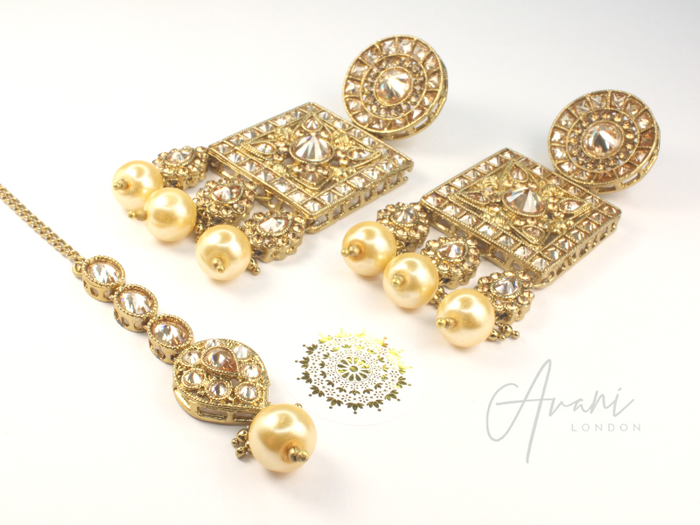 Cleo Earring and Tikka Set | Avani London | Inspirational Indian Jewellery
