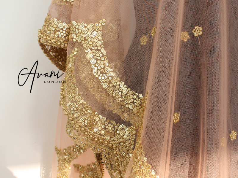 Nude Soft Net Dupatta | Avani London | Inspirational Indian Jewellery