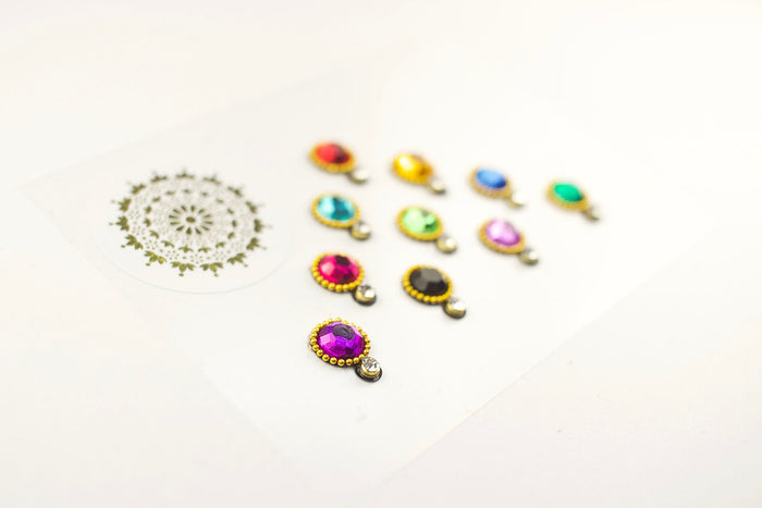 10 Multicoloured Two-Gem Bindis | Avani London | Inspirational Indian Jewellery