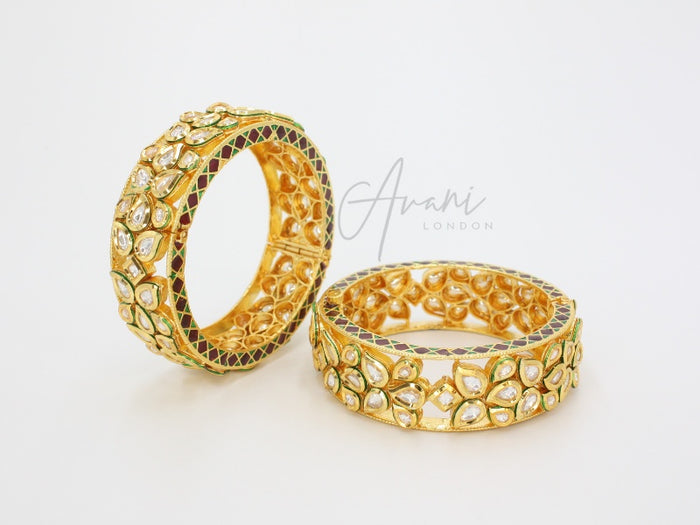 Signature Kundan Bangles | Avani London | Inspirational Indian Jewellery