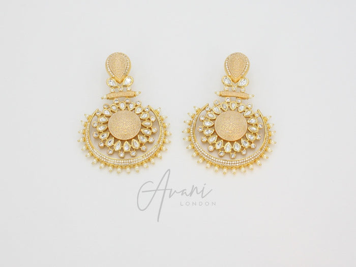 Roshni Signature Cream Kundan Earrings | Avani London | Inspirational Indian Jewellery