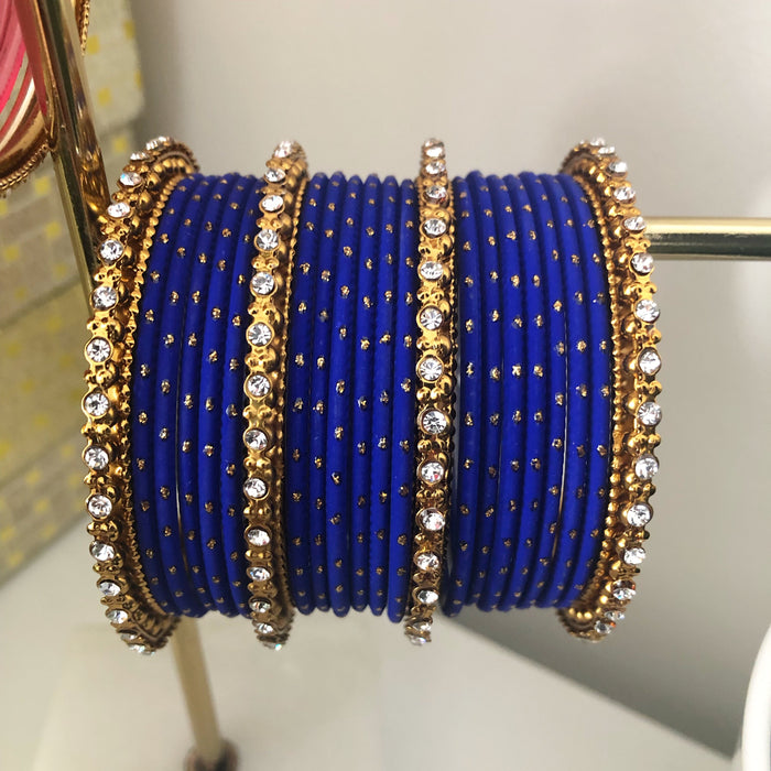 Avani London Custom Royal Blue Bangle Stack | Avani London | Inspirational Indian Jewellery