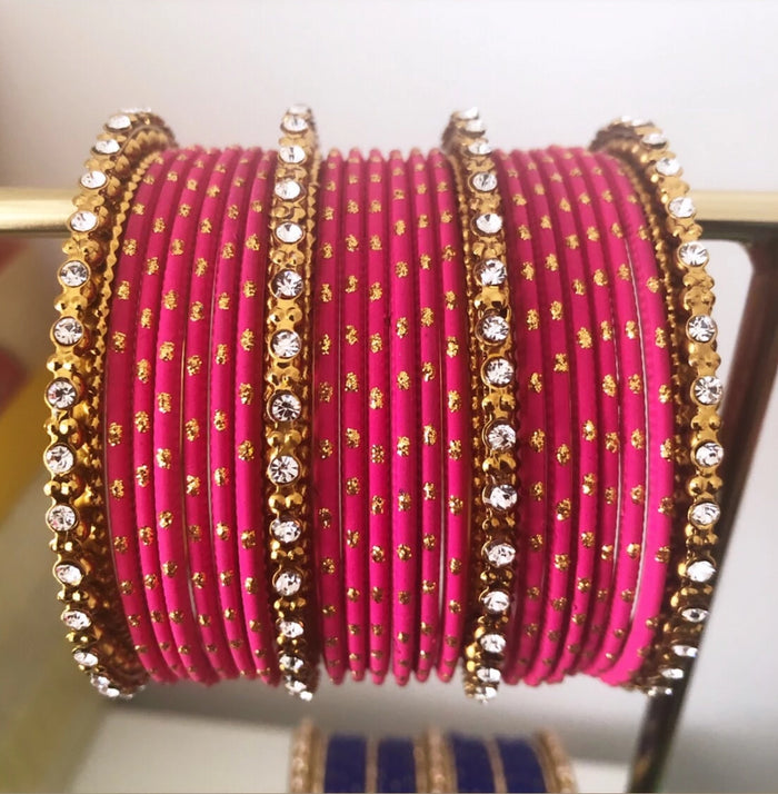 Avani London Hot Pink Bangle Stack | Avani London | Inspirational Indian Jewellery