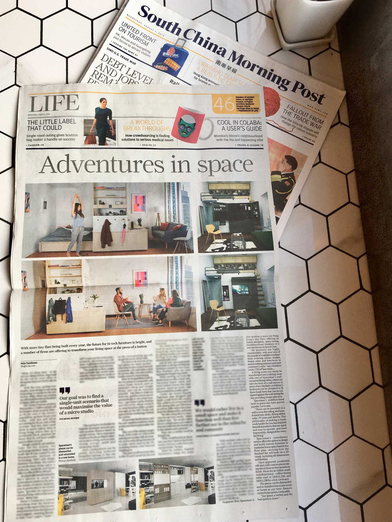 Spaceman press coverage Hong Kong in South China Morning Post