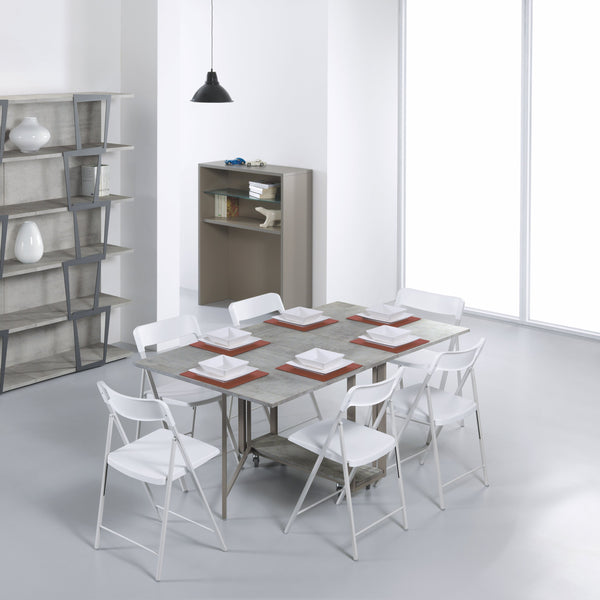 Ensemble shelves ~ console/dining table + hidden chairs - Spaceman HK