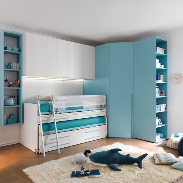 Cascade ~ kids bunk beds with desk