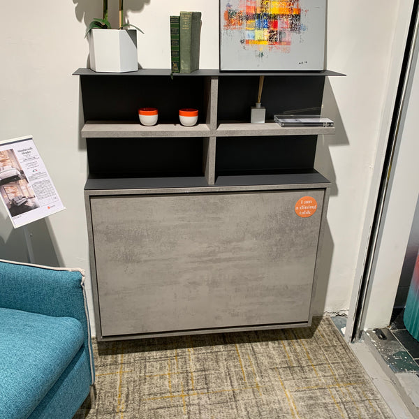 SALE: Ensemble Mini with shelves ~ EX-DISPLAY wall mounted table + chairs