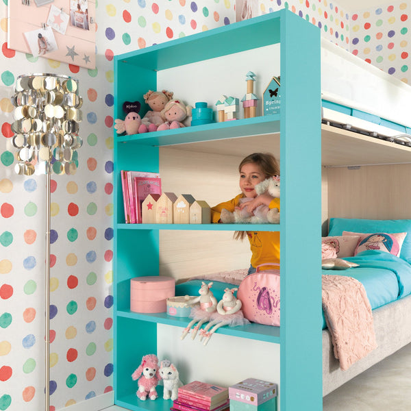 Maester ~ kids bunk beds + bookcase - Spaceman HK