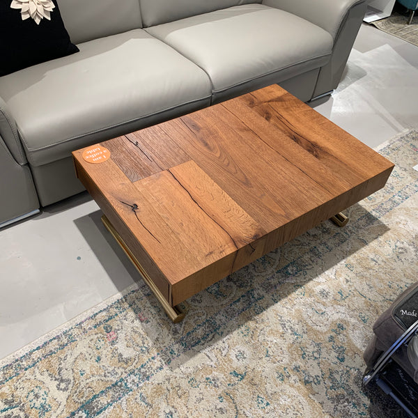 SALE: Wings ~ EX-DISPLAY Aged Oak compact coffee/dining table save 25%