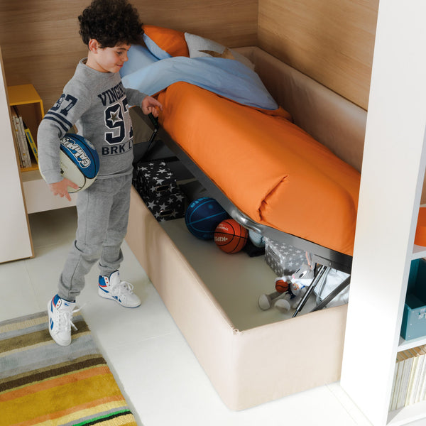 Pandora ~ single kids bed with hidden storage - Spaceman HK