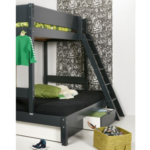 Pyramid Compact ~ Double plus single bunk bed from 170cm long