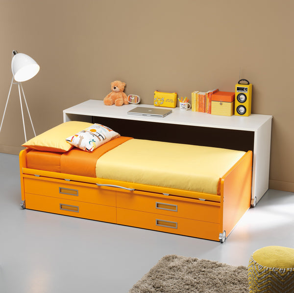Sage ~ single kids bed with mobile desk - Spaceman HK