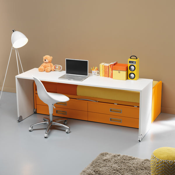 Sage ~ single kids bed with mobile desk