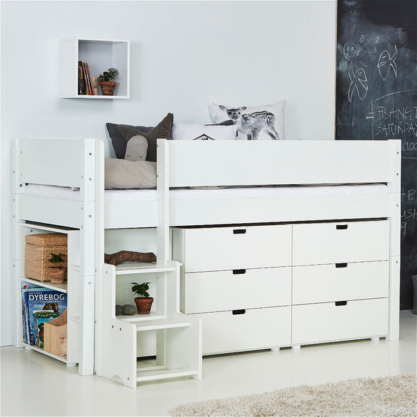 Stack Compact ~ low loft bed with storage from 170cm long