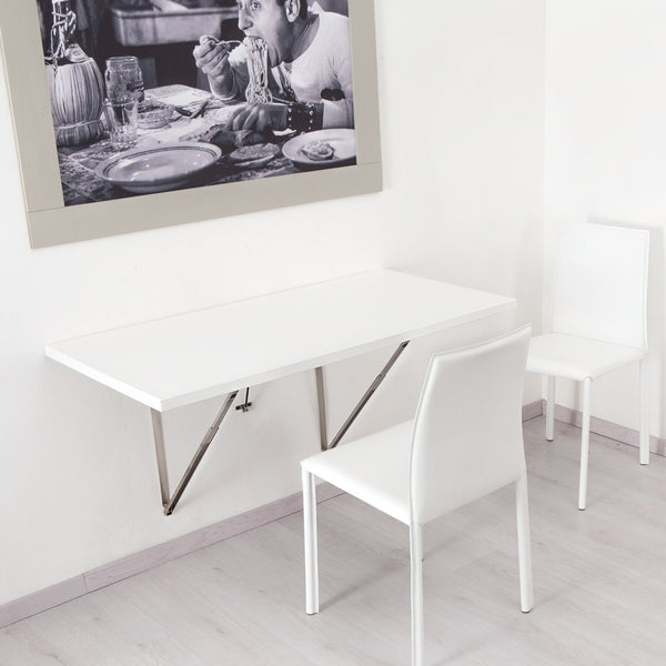 Flip ~ wall mounted table with soft close