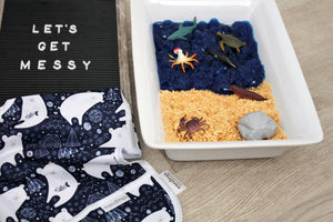 Messy play idea: Explore the sea