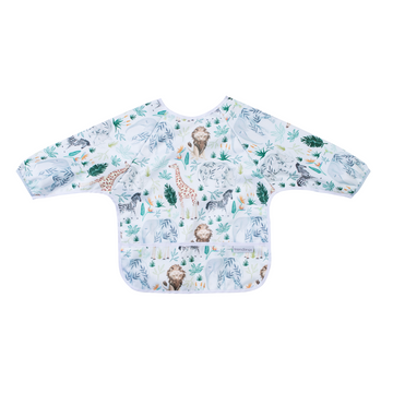 Long Sleeve Baby Bib - Safari
