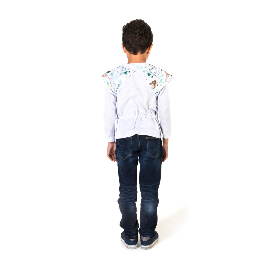 Short Sleeve Junior Apron - Veggy Patch