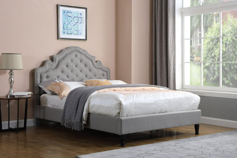 "HomeLife® Premiere Classics Light Grey 51"" Platform Bed"