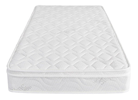 "Home Life® Organic Cotton, Euro Top Pillow 8"" Inches, Pocket Spring Mattress"