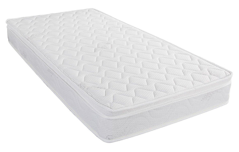 "Home Life® Organic Cotton, Euro Top Pillow 8"" Inches, Pocket Spring Mattress - HomeLife Company"